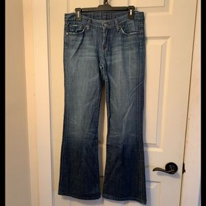 7 For All Mankind Dojo Flare Jeans size 29